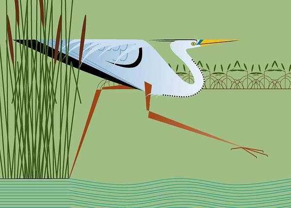 Digital Art - Great Blue Heron by Marie Sansone