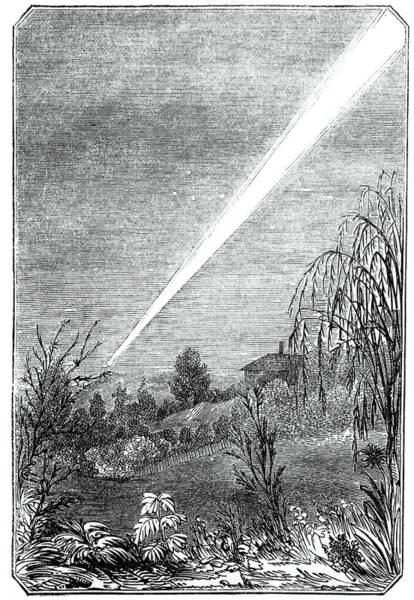 Wall Art - Photograph - Great Comet Of 1844 by Royal Astronomical Society/science Photo Library