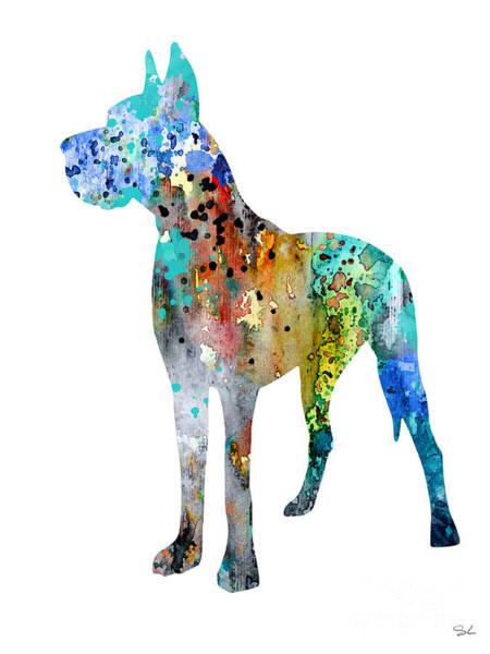 Great Dane Painting - Great Dane 12 by Watercolor Girl