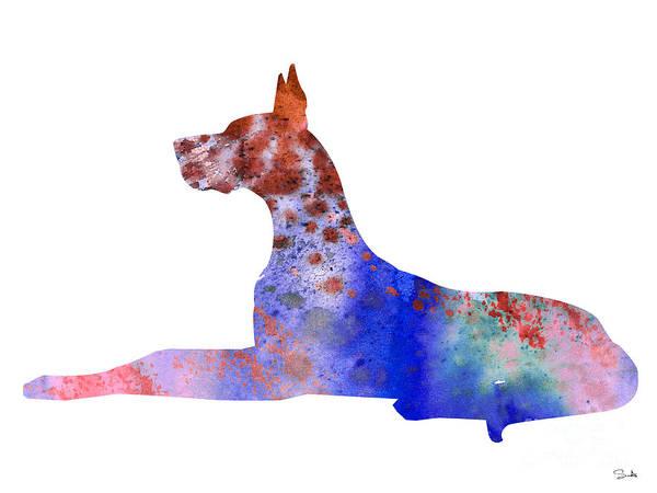 Great Dane Painting - Great Dane 8 by Watercolor Girl