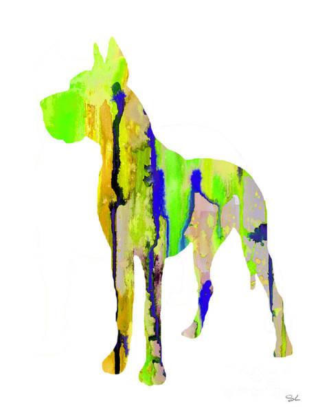 Great Dane Painting - Great Dane 9 by Watercolor Girl