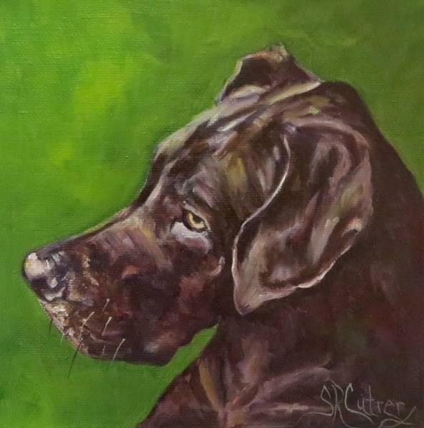 Black Great Dane Painting - Great Dane  by Sandra Reeves