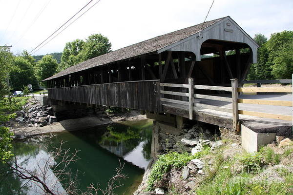 Waitsfield Photograph - Great Eddy Covered Bridge by Christiane Schulze Art And Photography