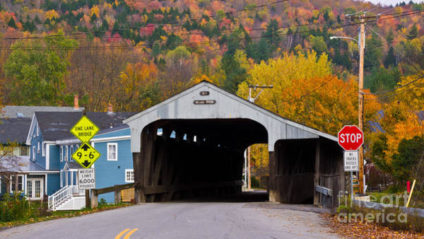 Waitsfield Photograph - Great Eddy Covered Bridge. by New England Photography
