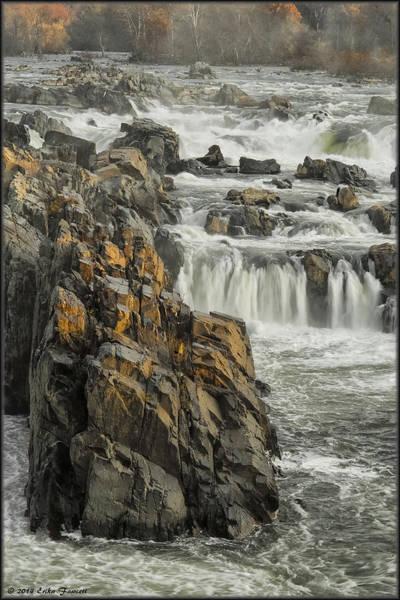 Photograph - Great Falls Foggy Morning by Erika Fawcett