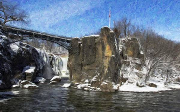 Photograph - Great Falls Painted by Jorge Perez - BlueBeardImagery