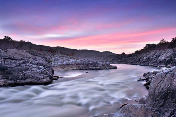 Wall Art - Photograph - Great Falls Park - Potomac River Sunrise by Brendan Reals