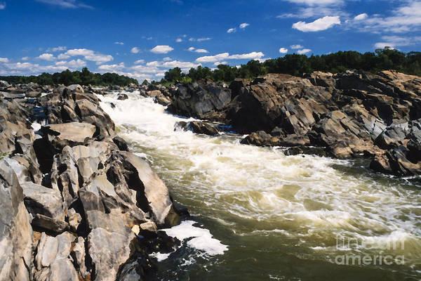 Photograph - Great Falls Potomac River by Thomas R Fletcher