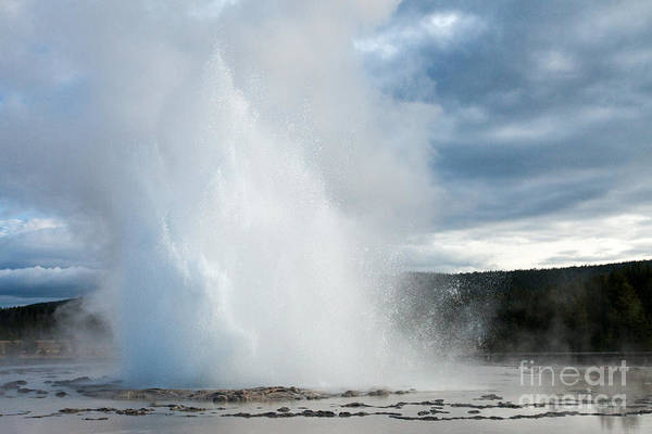Photograph - Great Fountain Geyser Along Firehole Lake Drive by Fred Stearns