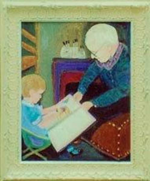 Anne-Elizabeth Whiteway - Great Grandpa Helps Little Girl with her Big Book
