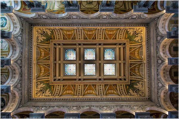 Photograph - Great Hall - Thomas Jefferson Building by Erika Fawcett