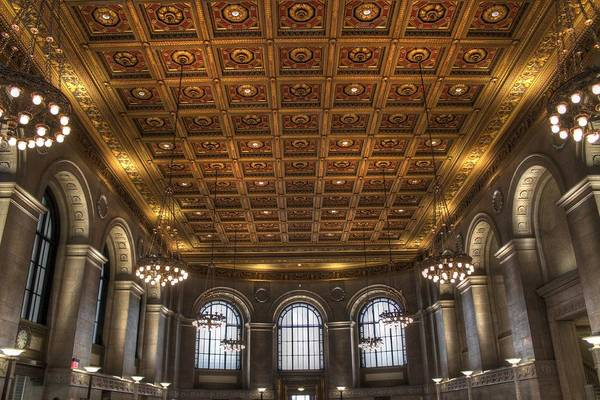 Cass Wall Art - Photograph - Great Hall St. Louis Central Library by Jane Linders