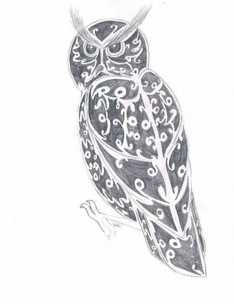 Great Horned Owl  Art Print by Kali Kardsbykali