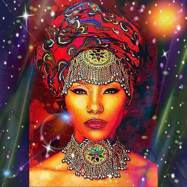 Digital Art - Great Lady Malkia by Karen Buford