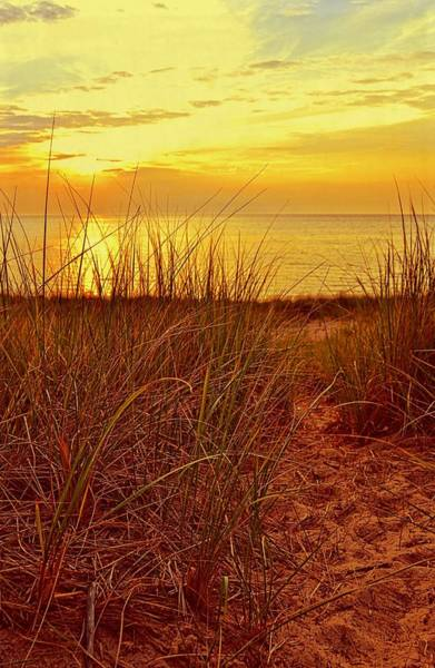 Photograph - Great Lake Great Sunset 2 by Michelle Calkins