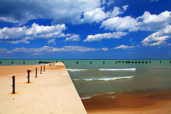 Great Lake Horizon Clouds Art Print