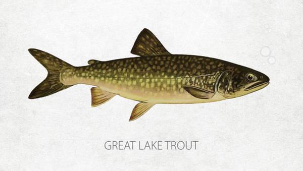 Lake Superior Wall Art - Digital Art - Great Lake Trout by Aged Pixel