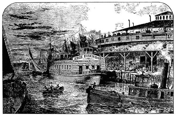 Riverboat Painting - Great Lakes Steamer, C1830 by Granger