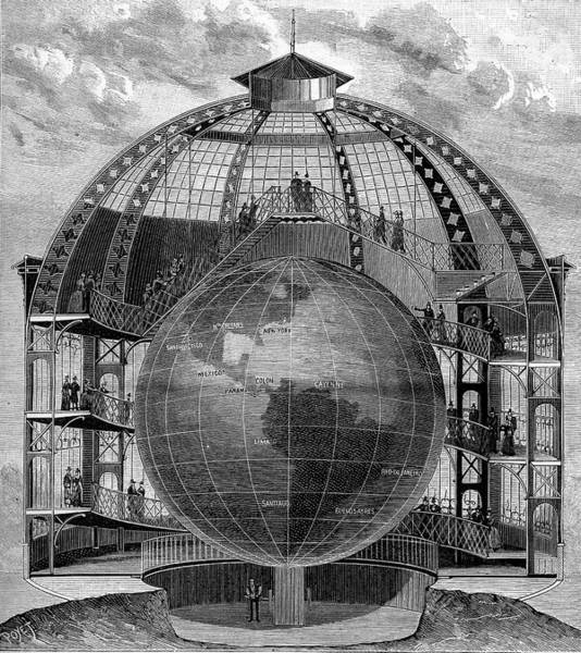1889 Photograph - Great Model Of The Earth by Collection Abecasis/science Photo Library