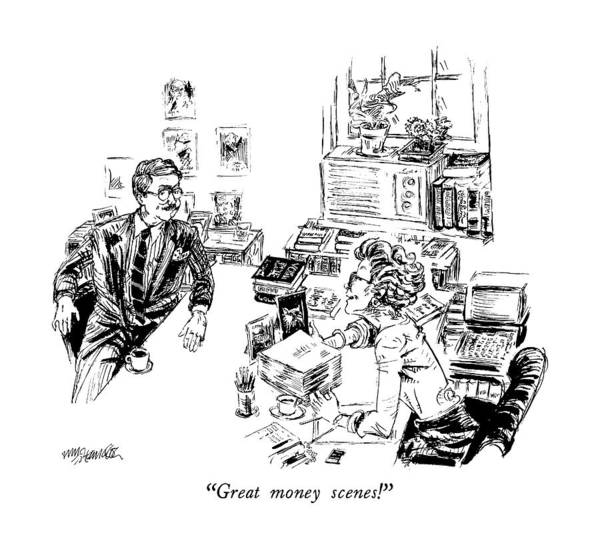 Author Drawing - Great Money Scenes! by William Hamilton