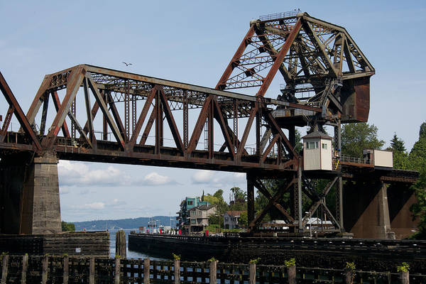 Photograph - Great Northern Railroad Bridge Seattle by Steven Lapkin