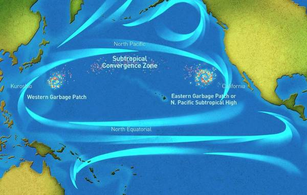 Western Pacific Photograph - Great Pacific Garbage Patches by Noaa Marine Debris Program/science Photo Library