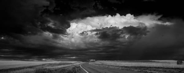 Wall Art - Photograph - Great Plains Storm B W by Steve Gadomski