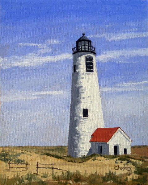 Wall Art - Painting - Great Point Lighthouse Nantucket Massachusetts by Christine Hopkins
