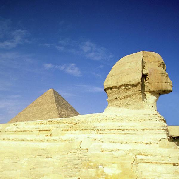 Giza Photograph - Great Pyramid Of Giza And The Sphinx by Hisham Ibrahim