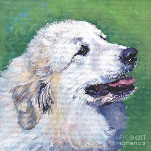 Wall Art - Painting - Great Pyrenees  by Lee Ann Shepard