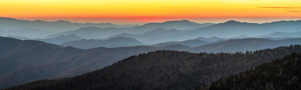 Photograph - Great Smoky Mountains National Park Sunset by Pierre Leclerc Photography