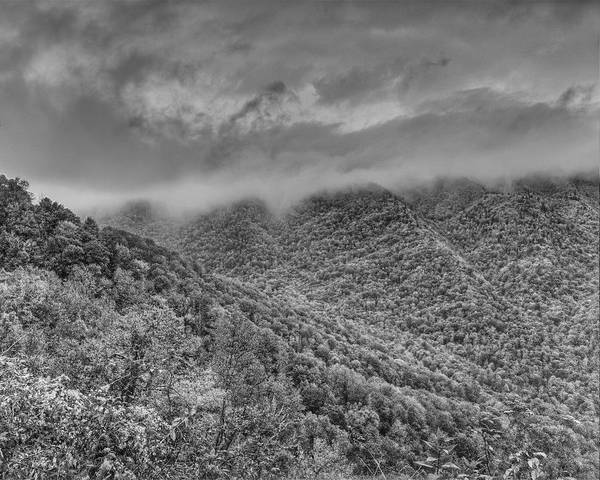 Photograph - Great Smoky Mts.bw Lan 318 by G L Sarti