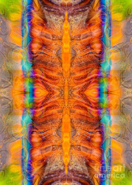 Digital Art - Great Spirit Side Panel Abstract Designs By Omaste Witkowski  by Omaste Witkowski