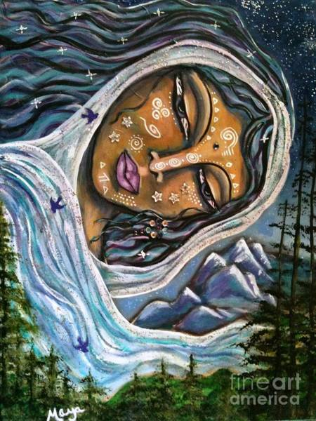 Pleiades Painting - Great Star Mother By Maya Telford by Maya Telford