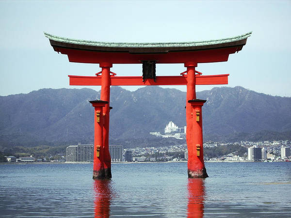 Wall Art - Photograph - Great Torii Gate Of Miyajima by Daniel Hagerman