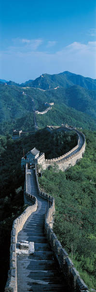 Surroundings Photograph - Great Wall Of China Beijing China by Panoramic Images