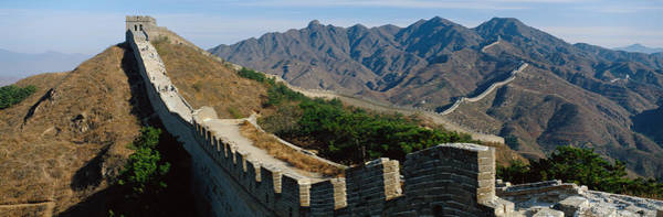 Fortification Photograph - Great Wall Of China by Panoramic Images