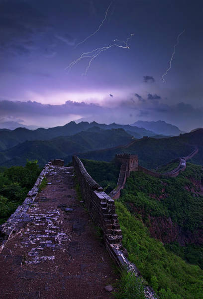 Electricity Photograph - Great Wall by Yan Zhang