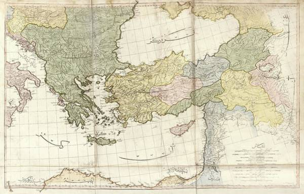 Tab Photograph - Greece And Turkey by Library Of Congress, Geography And Map Division