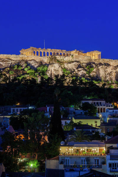 Ancient Greek Photograph - Greece, Athens, Acropolis by Walter Bibikow