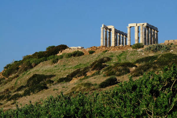 Ancient Greek Photograph - Greece, Attica, Cape Sounion by Heintz Jean / Hemis.fr