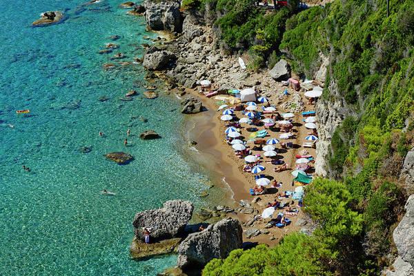 Beach Holiday Photograph - Greece, Corfu Island, Myrtiotissa Beach by Tuul & Bruno Morandi