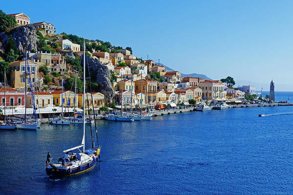 Dodecanese Photograph - Greece, Dodecanese, Symi, Gialos Harbour by Tuul & Bruno Morandi