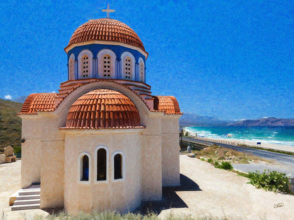 Painting - Greece Orthodox Church Grk1650 by Dean Wittle