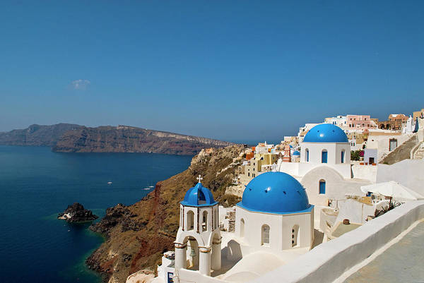 Aegean Sea Photograph - Greece, Santorini by David Noyes