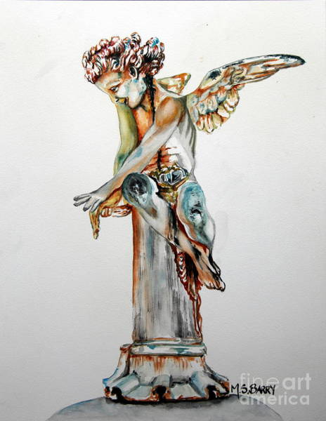 Painting - Greek Angel by Maria Barry