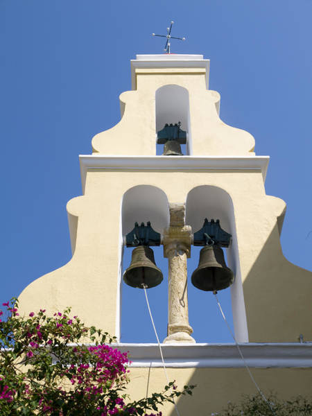 Photograph - Greek Bells And Flowers by Brenda Kean