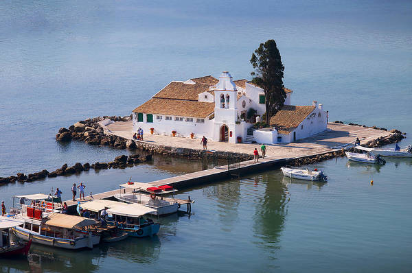 Photograph - Greek Church In The Sea by Brenda Kean