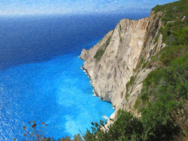Painting - Greek Coast Grk4188 by Dean Wittle