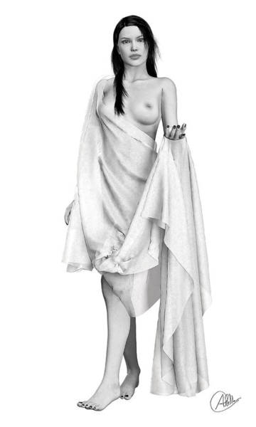 Female Nude Digital Art - Greek Dancer by Quim Abella